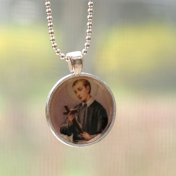 Fertility Necklace, St Gerard, Religious Pendant, Religious Jewelry, Fertility Prayer, Bridal Gift, Saint Gerard, Faith Jewelry, TTC gift