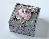 RERSERVED for Gwen ---Wedding shower keepsake box