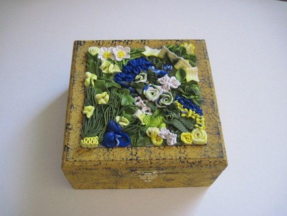 Blue and Yellow keepsake box