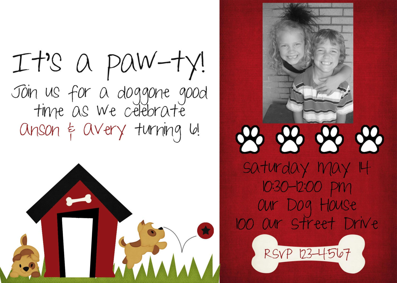 Dog Birthday Party Invitations for your inspiration to make invitation template look beautiful