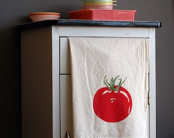 Flour Sack Towel - Tomato - Hand Screen Printed