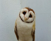 Life size Needle felted life size Barn owl ( RESERVED FOR JACKIE )
