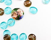 CUSTOM: LARGE PHOTO Glass Gems - Table Confetti & Favors - 20 Large