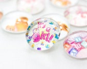 GIRL Baby Shower- Teddy Bear- Glass Gems Table Confetti & Favors - 35 SMALL