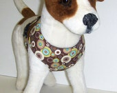 Comfort Soft Harness for Small Dog, Multi circle, Polka dots.