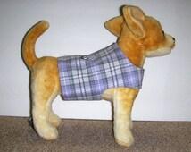 Lavender plaid Harness-vest for small dog