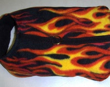 Harness-Vest for Dog Hot Rod Flame