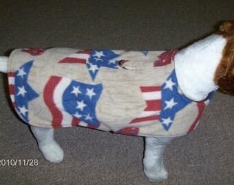 Patriotic Fleece Dog Harness-Vest