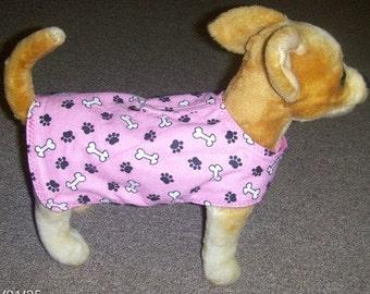 Dog Harness-Vest Coat Pink Bone and Paw