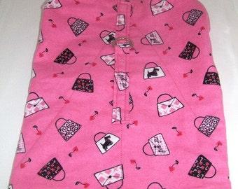 Harness-Vest Coat for Dog, Pink, Preppy