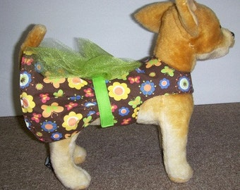Spring time Harness-Dress for small Dog XS, S, and Medium.