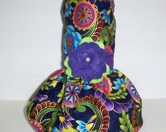 Purple passion Harness-Dress for small dog. Chihuahua. Yorkie.