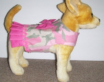Pink Camo Harness-Vest for Small Dog
