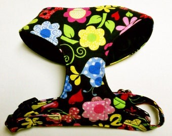 Comfort Soft Walking Harness for small dog Groovy - Made to Order -