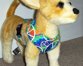 Tie Dyed Comfort Soft Dog Harness - Made to Order -