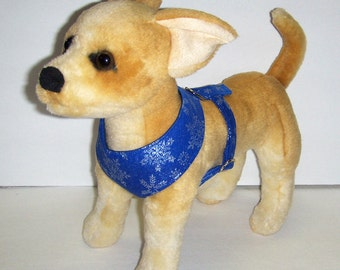 Comfort Soft  Harness for Small Dog Snowflake. - Made to order -