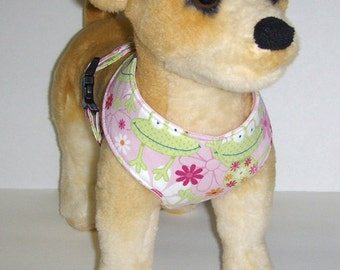 Comfort Soft Harness for Small Dog Frog. - Made to order -