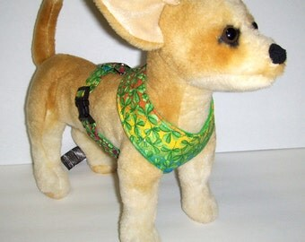 Comfort Soft Harness for Small Dog, Shamrock, Luck of the Irish., St. Patricks. - Made to order -