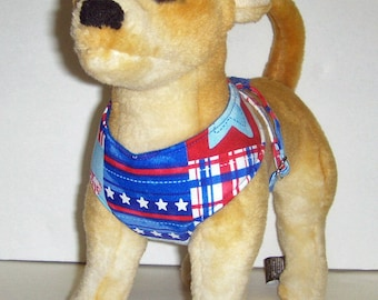 Patriotic Comfort Soft Dog Harness.  - Made to Order -