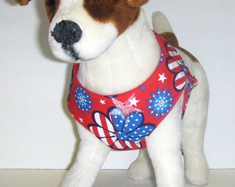 Patriotic Comfort Soft Dog Harness.