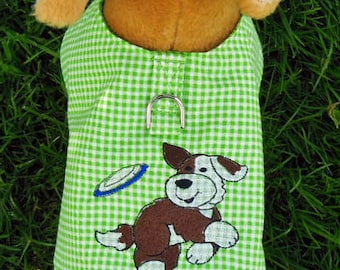 Embroidered Harness-Vest for Small Dog, Frisbee.