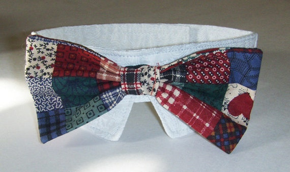 Patch work pattern Bow Tie for your fur baby (dog or cat)