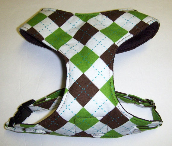 Comfort Soft Dog Harness Argyle.