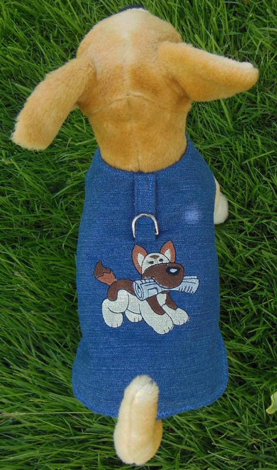Embroidered Dog Harness-Vest , Fetch.