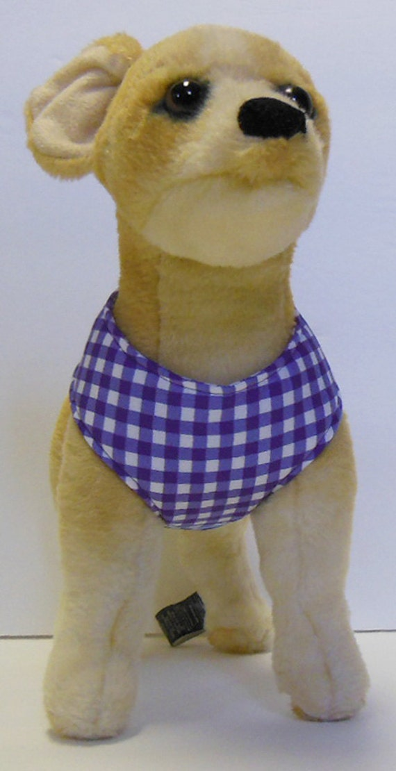 Comfort Soft Harness for Small Dog, Purple Plaid.