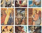 "Digital Collage Sheet - Clip Art Elements- Digital Scrapbooking -""Angels1"""