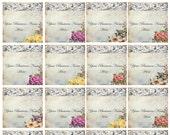 "Digital Collage Sheet - Clip Art Elements- Digital Scrapbooking-"" Ornamentaea Taupe"" Hang Tags"