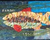 Handmade Art Quilt - A FISH IS A FISH