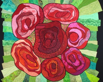 Handmade Art Quilt - ROSE