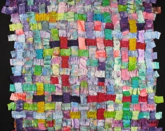 Items Similar To Baby Girls Patchwork Quilt Pastel Colours