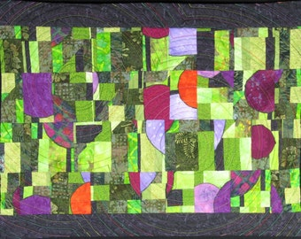 Handmade Art Quilt - STUDY IN GREEN
