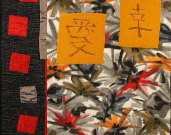 Handmade Art Quilt - LOVELY SILK