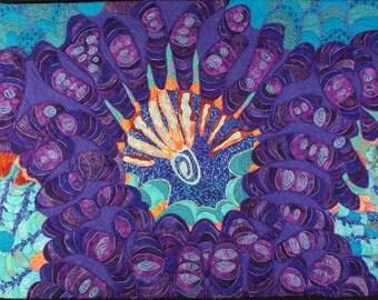 Handmade Art Quilt - Polpalooza