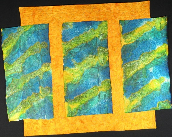 Handmade Art Quilt - SILKY GOODNESS