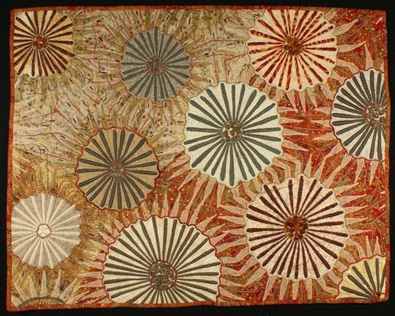 Handmade Art Quilt - Firerocks