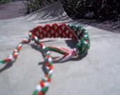 Friendship Bracelet, Double thick, old school friendship band, embroidery floss bracelet, knotted bracelet, micro macrame