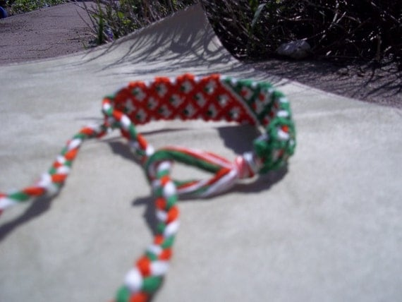 Friendship Bracelet, Double thick, old school friendship band, embroidery floss bracelet, knotted bracelet, micro macrame