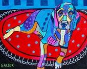 60% Off- BEAGLE Art  Art Print Poster by Heather Galler (Hg163)