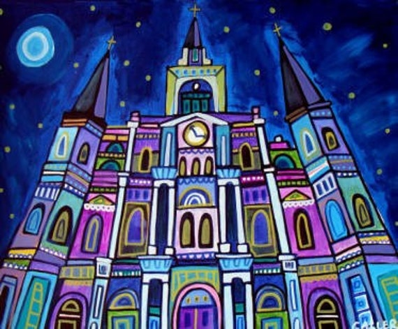 New Orleans Art Saint Louis Cathedral Poster Print of Painting (HG715)
