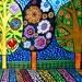 Landscape Art - TREE ART - Folk Art  Art Print Poster by Heather Galler (HG574)