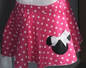 Bright pink mini mouse circle skirt