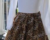 Leopard Print Circle Skirt size 5