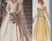 Vogue Bridal Gown and Petticoat 1980s Vintage Sewing Pattern VOGUE 1677, Size 14 Bust 36, UNCUT