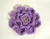 Lavender Rose Crochet Cotton Small Accessory
