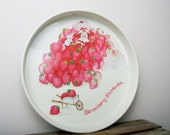 Strawberry Shortcake Serving Tray Vintage Birthday party Platter tea partys kids CIJ christmasinjuly