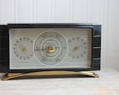 Barometer Weather Gauge 1950s made USA Airguide Instruments Chicago Nice Sleek retro mod Mad Men CIJ christmasinjuly